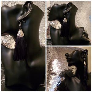 Long Drop Tassel Earrings